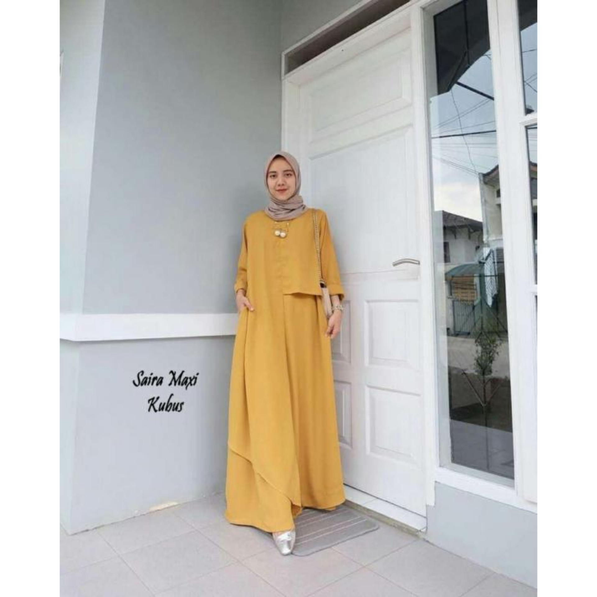 Saira Maxi - Baju Muslim Murah Terbaru 2018 Grosir Pakaian Wanita Busana Pesta Modern Gamis Syari Maxidress Setelan Couple Tunik Atasan Blouse Celana Kulot Rok Khimar Hijab