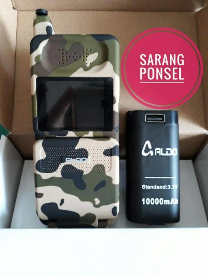 Hp Handphone Aldo 16g2 Army Hp Unik Model Sony Jadul Batre 10000 Mah