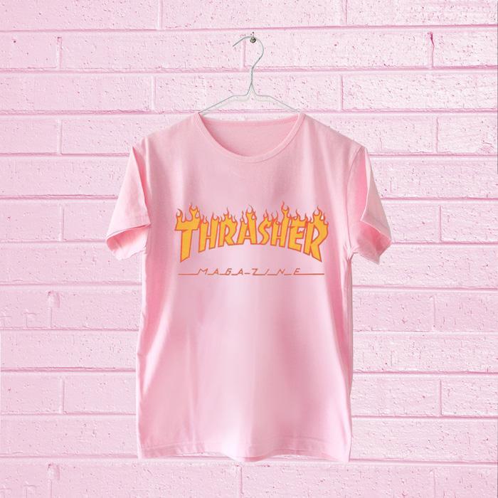 RICARDOF - Thrasher Crop Tee Black / Tshirt Wanita / Kaos Crop / Fashion Terkini / Model Trendy / Kaos SpandekIDR21900. Rp 22.500