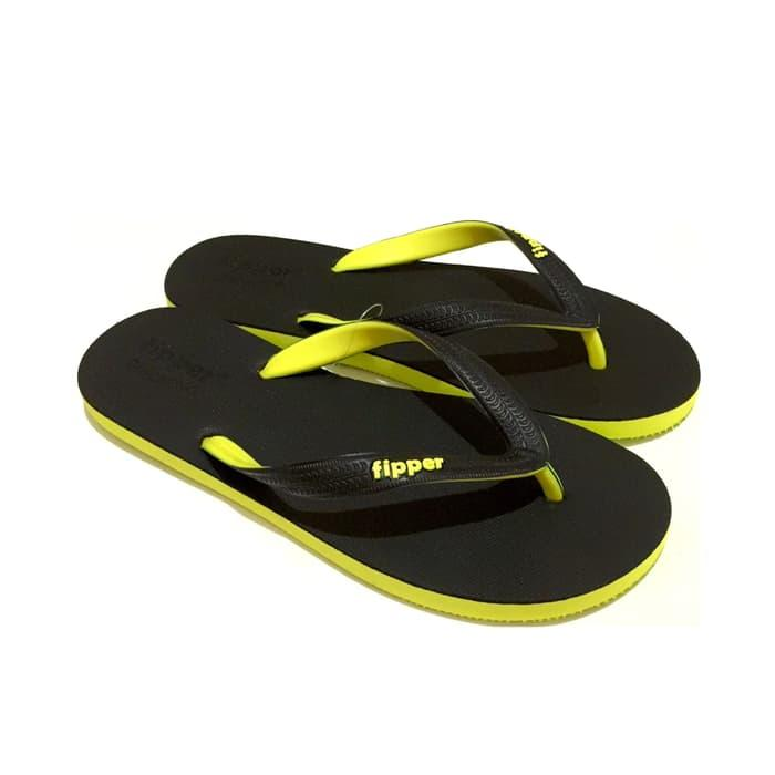Sedang Diskon!! Sandal Fipper Black Series Black Lime - ready stock