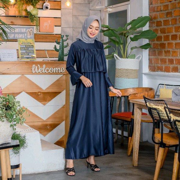 Baju Long Dress Alita Maxy Gamis Wanita Pakaian Busana Muslim Murah Realpict LF