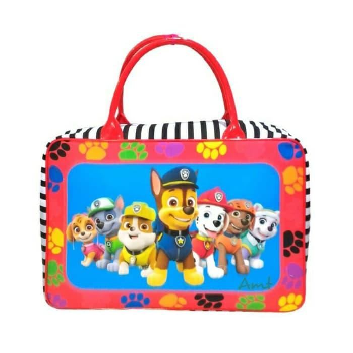 Sedang Diskon!! Menjual Tas Travel Bag Koper Kanvas Renang Anak Dewasa Paw Patrol - ready stock