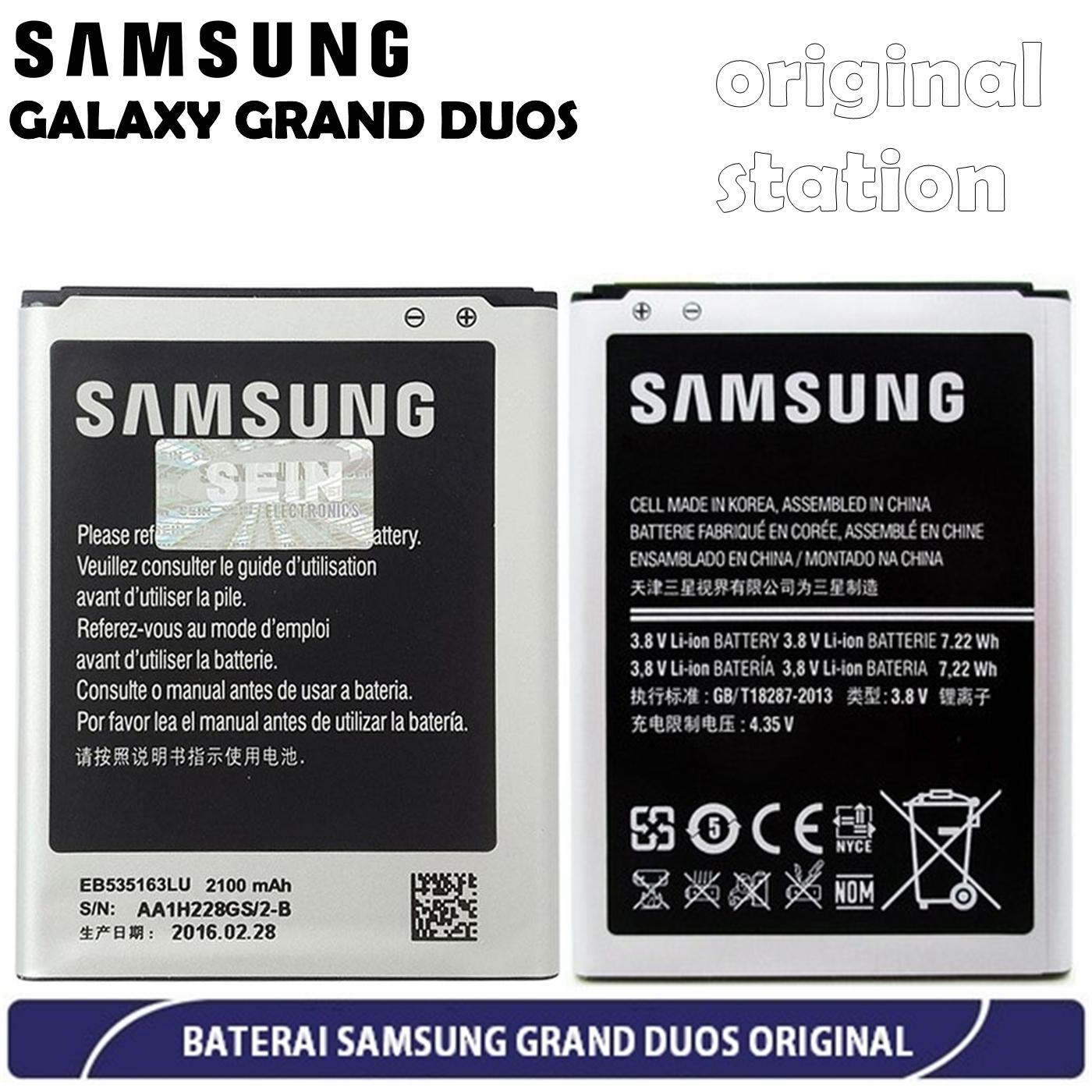 Samsung Galaxy Grand Duos I9082 Baterai Kapasitas 2100 mAh - Original