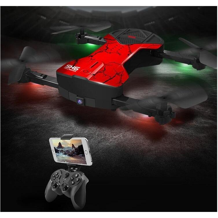rc drone foldable SH6 2.4ghz altitude hold wifi FPV camera 2MP HD720