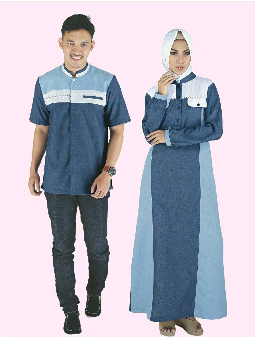 Baju Muslim COUPLE Raindoz 2179 2180 di lapak DISTRO GROSIR MURAH BANDUNG sepatumurahnian