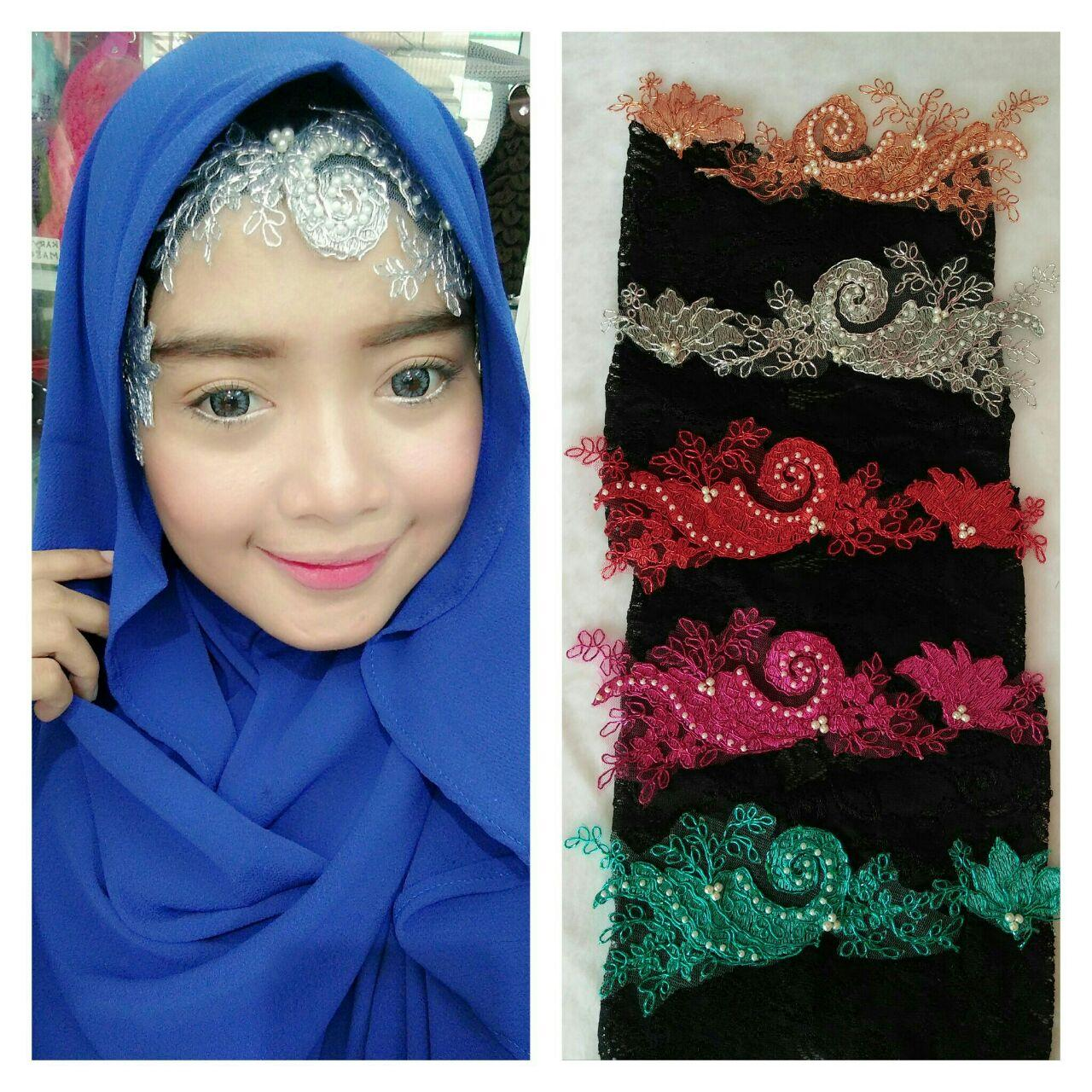 Jual Inner Hijab model Bordir brokat
