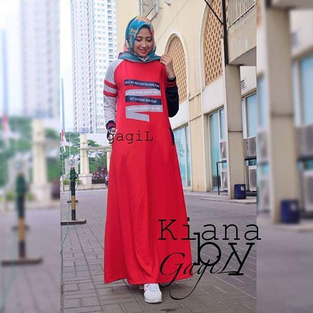 KIANA Dress By. Nasywa Collections Baju Gamis  Gamis Casual Terbaru