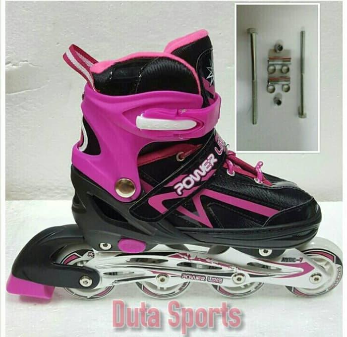 PROMO!!! Sepatu Roda Anak Harga Murah Powerline 5500+Baut Bajaj ( Pink ) - Fax15F