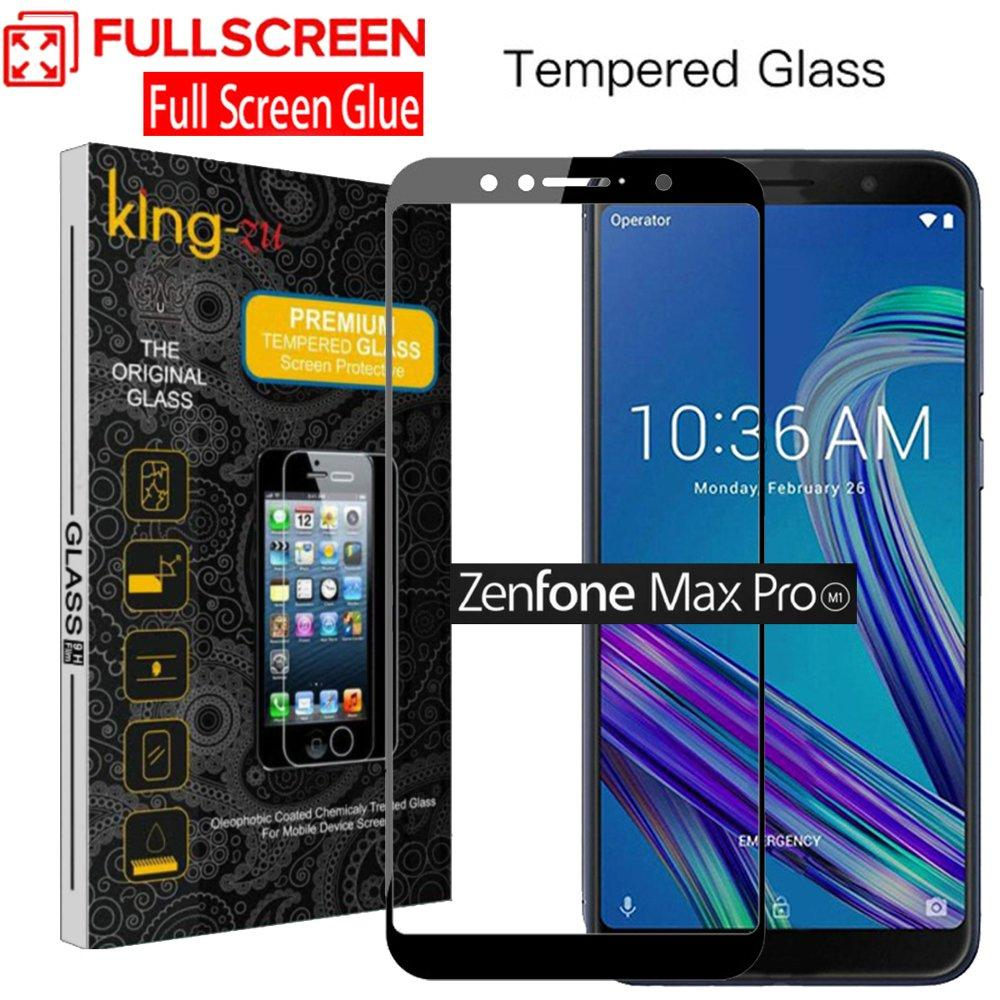 Glass King Zu Baru Asus Zenfone Max Pro (M1) ZB601KL Hitam Tempered Glass Super