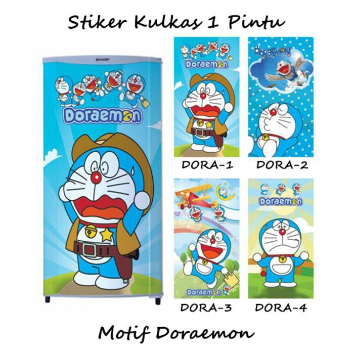 Sticker Kulkas 1 Pintu Doraemon Harga Murah