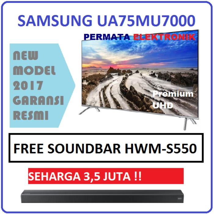 Samsung UA75MU7000 UHD 4K SMART 75 Inch FLAT LED TV 75MU7000 NEW 2017