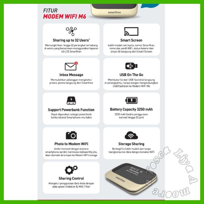 SALE - MIFI 4G ROUTER MODEM WIFI 4G SMARTFREN 4G ANDROMAX M5 FREE KUOTA 70GB