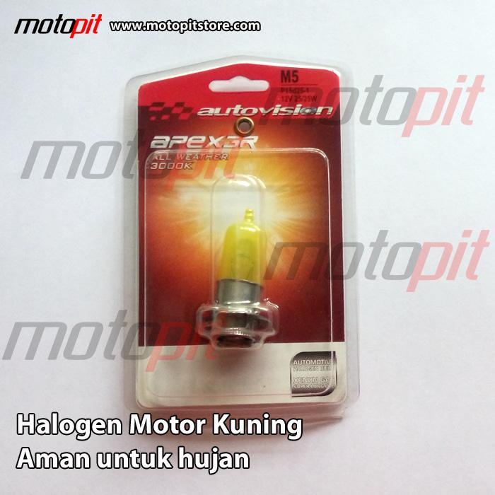 Autovision All Weather M5 k1 - lampu kuning, motor matic & bebek