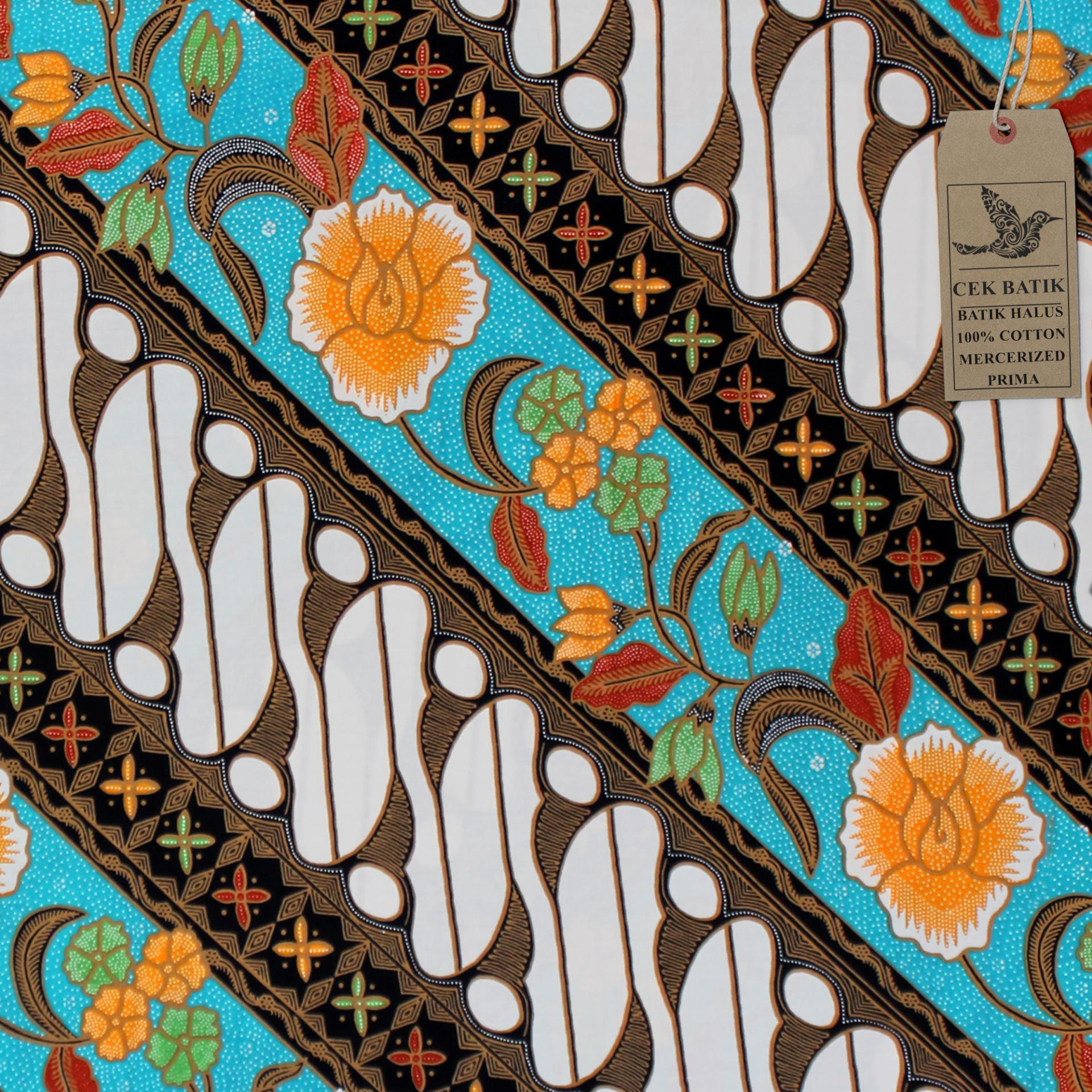 Cek Batik - Kain Batik Motif Etnik & Modern Pesona Parang Mocca Bunga Gading (Soft)