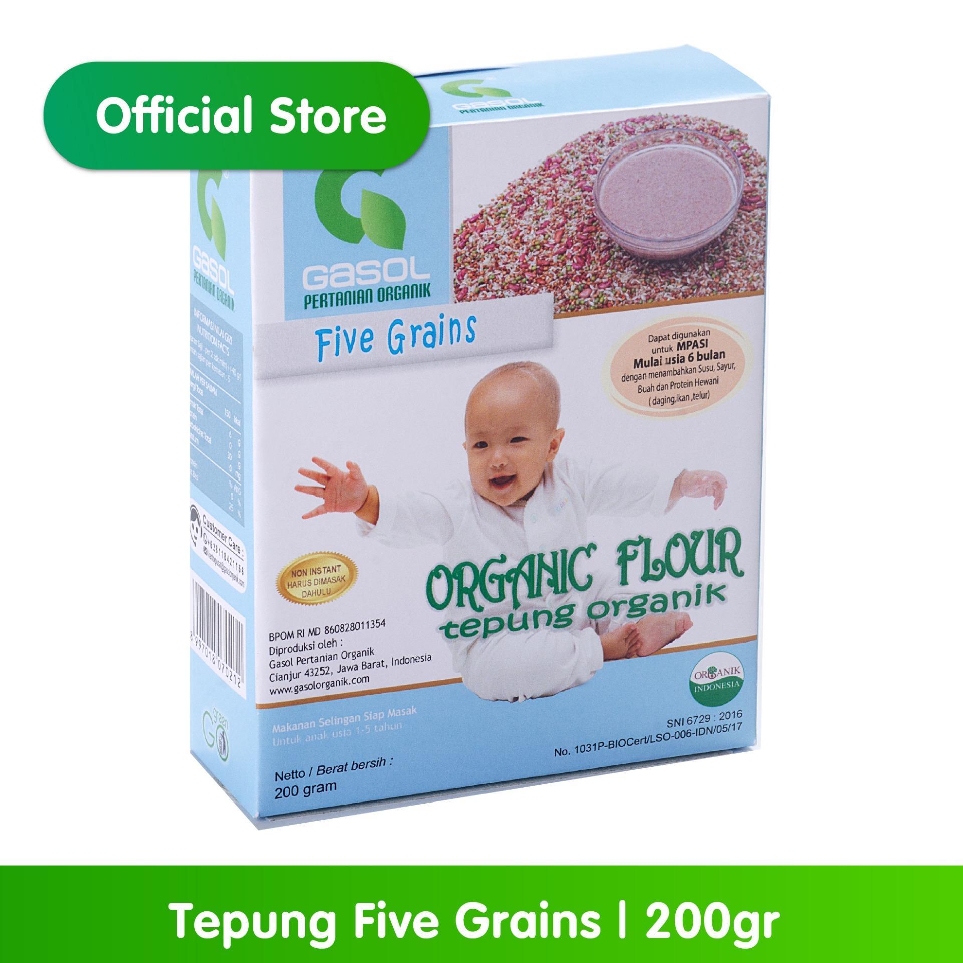 Buy Sell Cheapest Promo Gasol Bulir Best Quality Product Deals Tepung Beras Merah Organik Five Grains 200gr 200 Gr Makanan Bayi