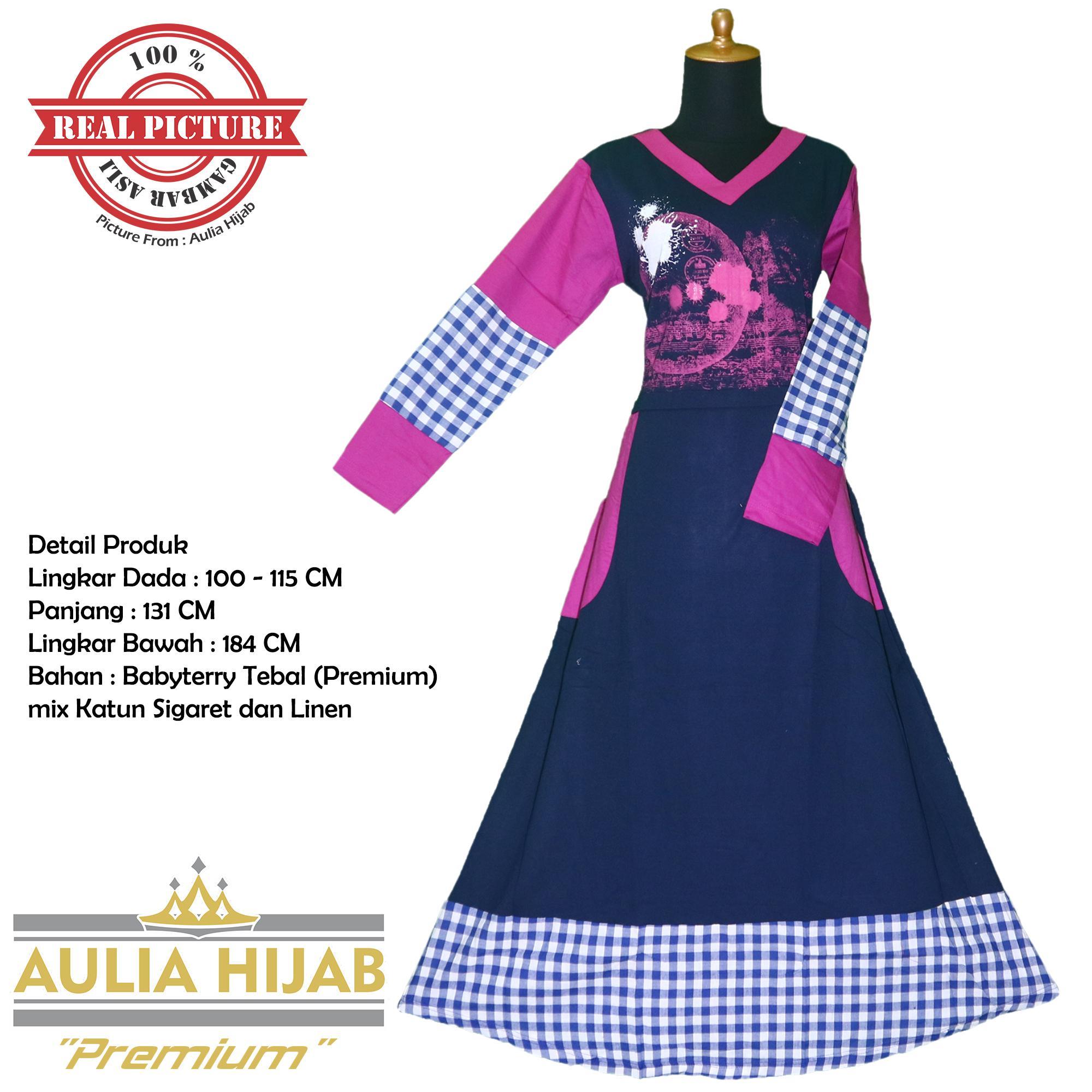 [Premium] Aulia Hijab - Gamis Gio-F 0105 Premium Bahan Babyterry Tebal Premium/Gamis Babyterry Premium/Gamis Hamil/Gamis Santai/Gamis Kerja/Gamis Premium/Gamis Kerja/Gamis Santai/Gamis Mahal/Gamis Berkualitas/Gamis Pesta
