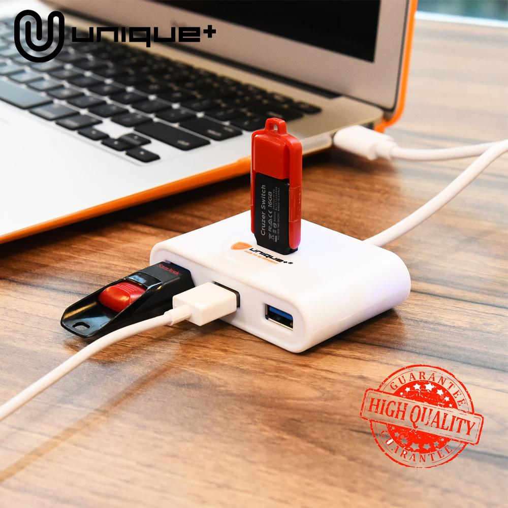 Unique USB HUB 4-Ports 3.0 HUB USB Splitter Charging High Speed USB Adapter For Apple Macbook Air Laptop PC Computer Tablet HDD Support HDD 2TB