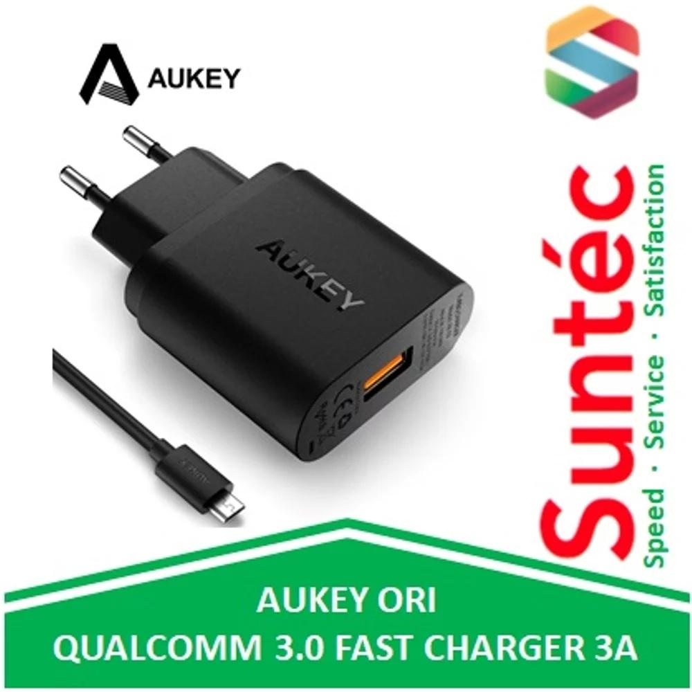 Aukey Turbo USB Wall Fast Charger 3A Qualcomm Quick Charge QC3.0 EU Plug PA