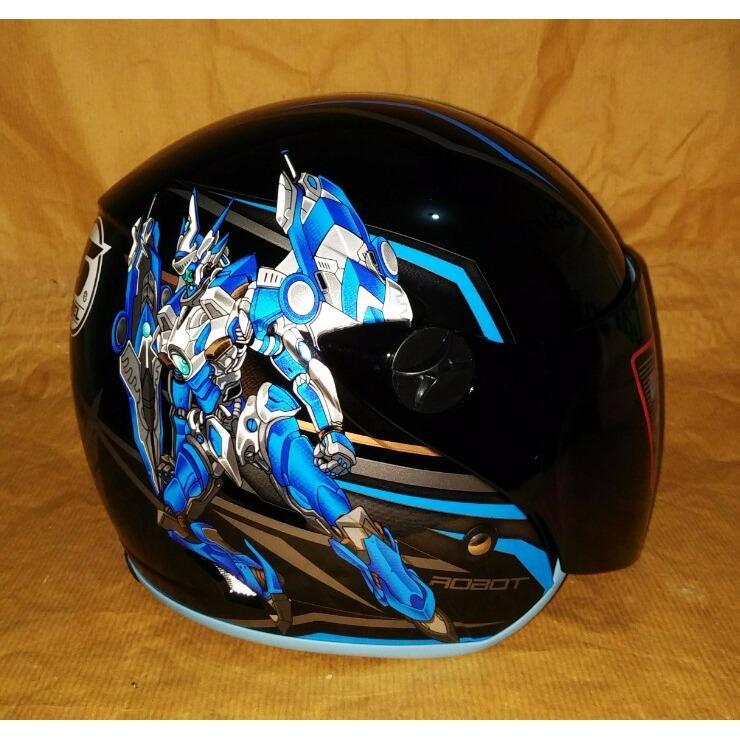 Helm anak tanggung Shel Phoenix (Kids) Transformer bk/blue