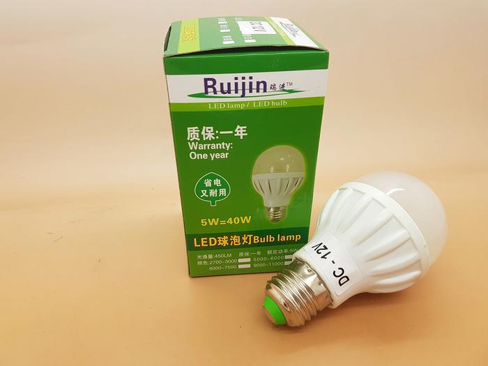 ORIGINAL - Merk RUIJIN BOHLAM LAMPU LED 12V DC LED 5W ( LAMPU SOLAR CELL )
