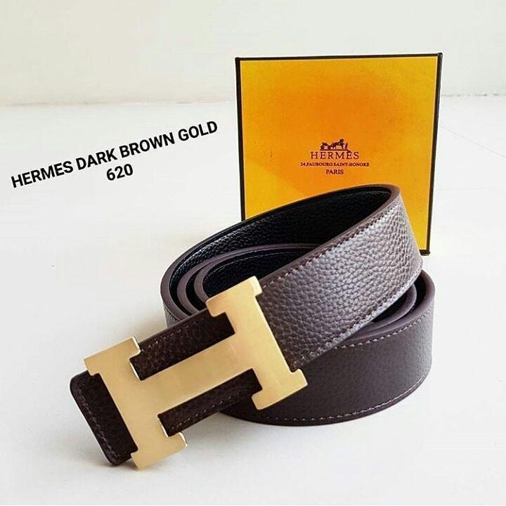 Ikat Pinggang Hermes HM 620 Brown Logo Gold