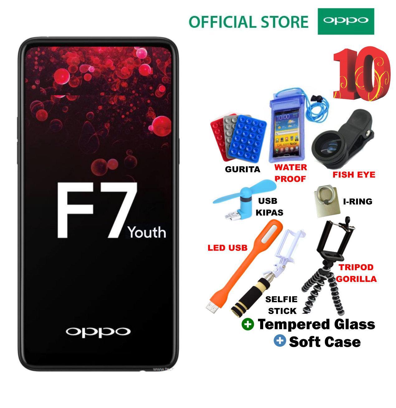 OPPO F7 YOUTH 4/64GB - Black Plus 10 Bonus Acc