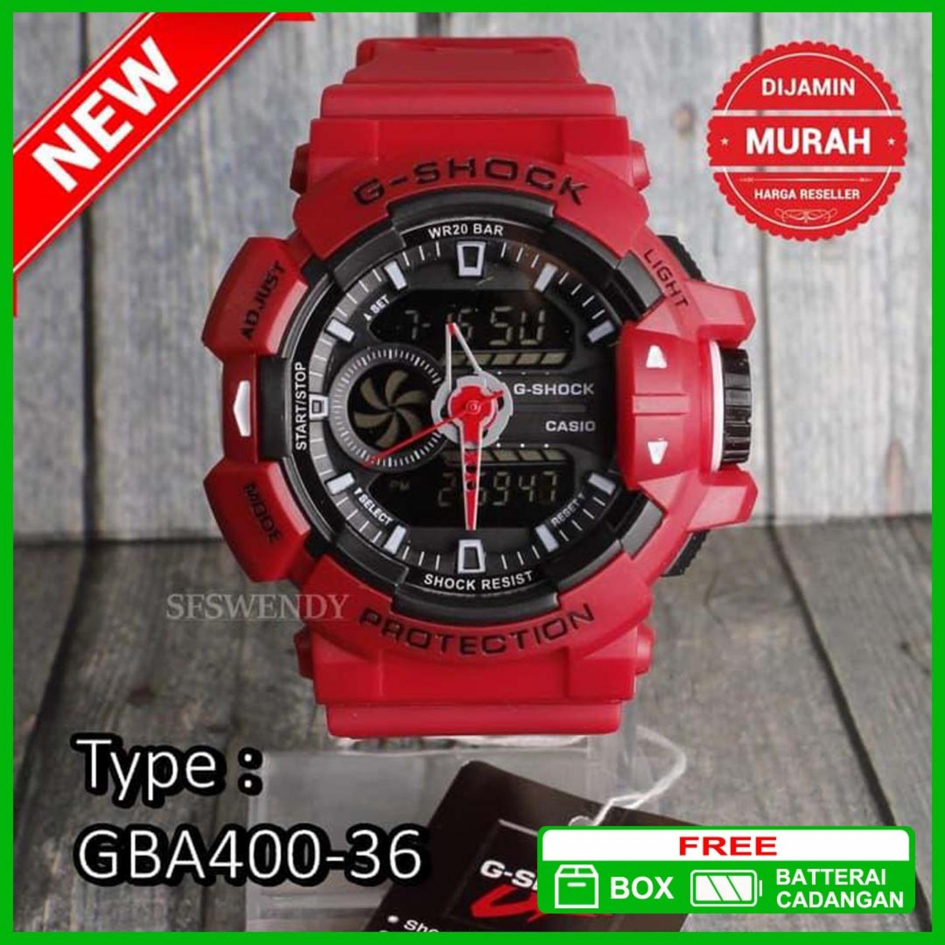 TERJUAL TERBANYAK !!! Jam Tangan GBA-400 Tali Merah SKMEI 2384a2d03a