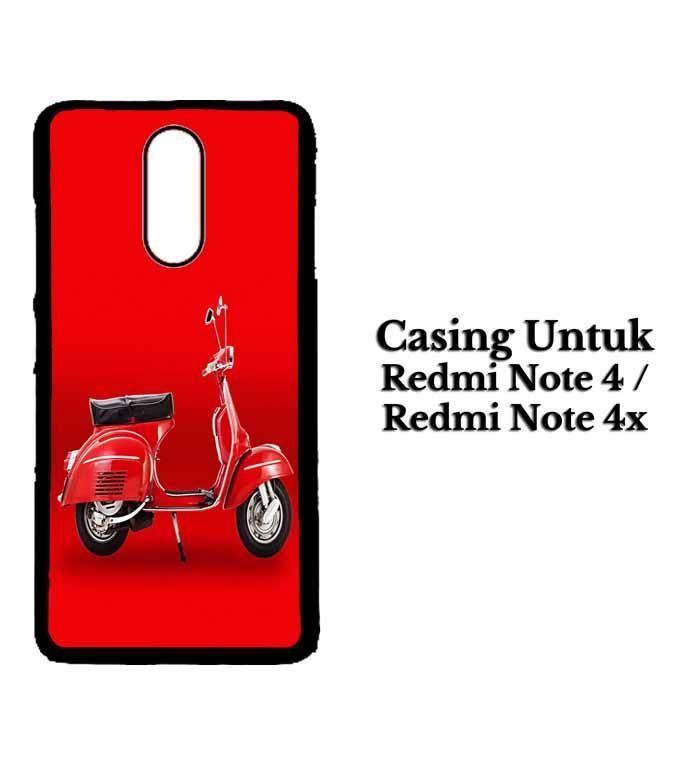 Casing XIAOMI REDMI NOTE 4X Red Vespa Hardcase Custom Case Se7enstores