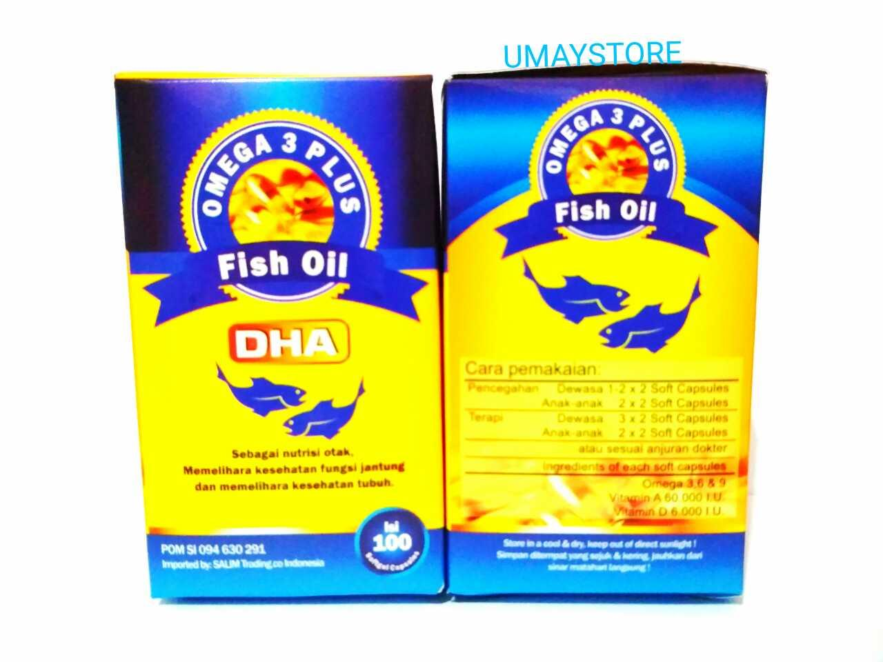 Minyak Ikan Fish Oil Omega 3 Vitamin A D Untukanak Dan Scotts Emulsion Original Dengan 400ml 2pcs Plus Dha 100 Kapsul