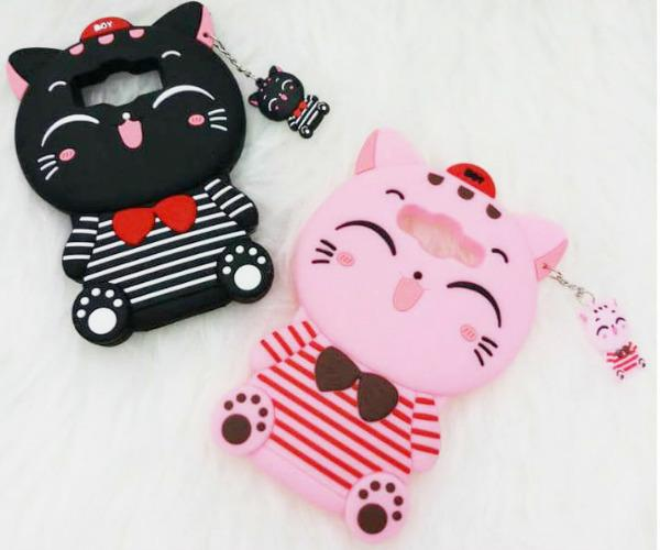 Softcase 3D Case For OPPO A31 / NEO 5 Boneka Timbul 4D Karakter CAT BLACK / PINK - ABS