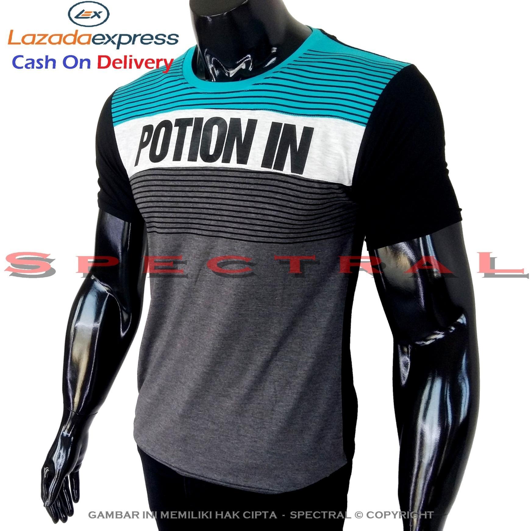 Spectral - Kaos Distro POTION IN Soft Rayon Viscose Lycra Pola M Fit To L Simple Fashionable Tidak Pasaran Kombinasi Garis Motif Art Visual