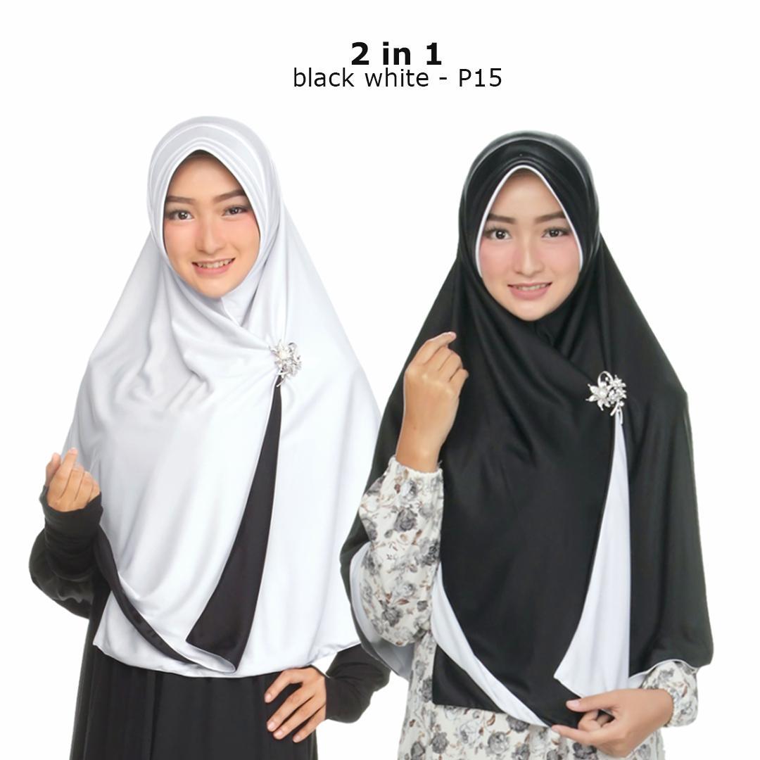 Zaannah Hijab Jilbab Bolak Balik Instan 2 in 1 Hijab Instant Bergo Fashion Muslim Terbaru Wanita Kekinian Model Sekarang Model Jaman Now Dua warna Khimar ...