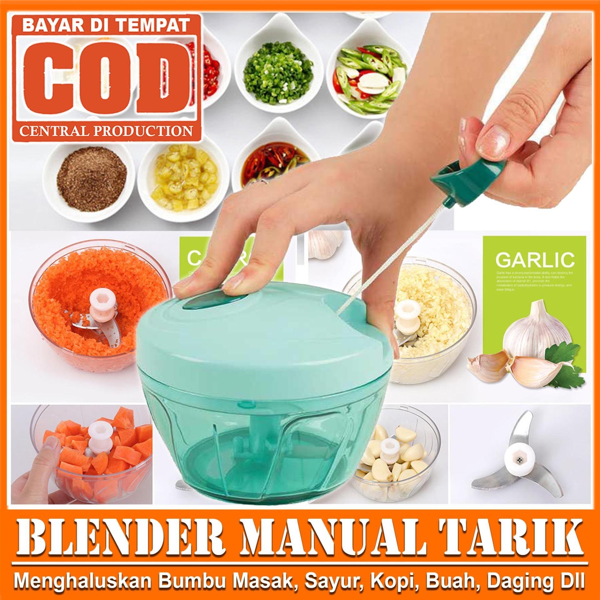 Penggiling Daging Manual Mini / Meat Grinder Besi / Alat Pelunak Daging Meat Steak Blade /  Blander Tarik Tangan REAL PICTURE
