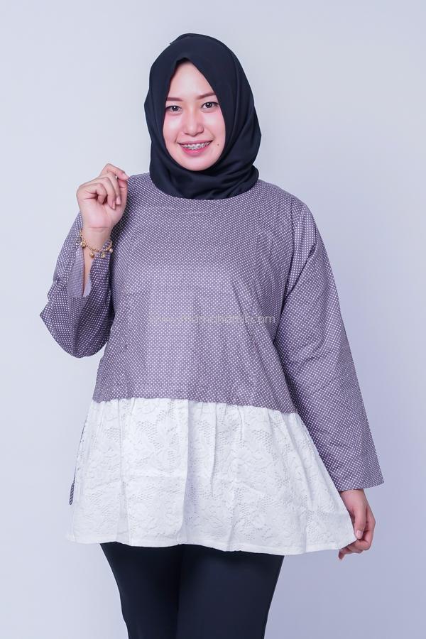 Blouse Muslim Hamil Menyusui Polka White / Baju Modern / Dress Korea / Baju Kekinian / Baju Hamil Kerja / Baju Hamil dan Menyusui / Hamil / Kehamilan / Ibu Hamil / Harga Mumer / Terbaru.