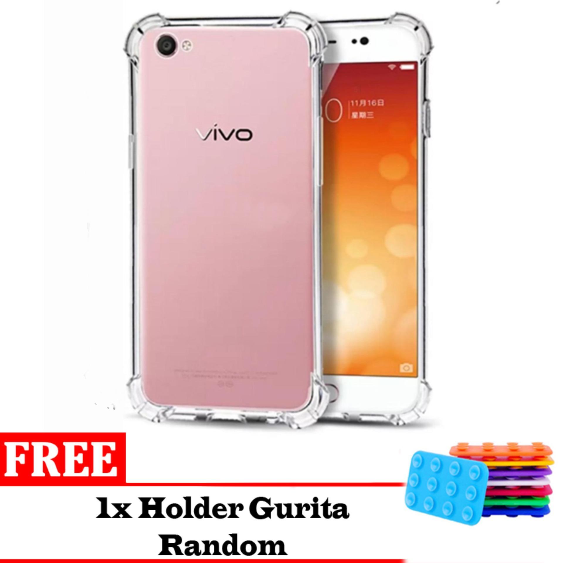 Jak Shop Soft Case Anti Crack / Anti Shock Case Vivo Y53 4G / Case Hp  - Clear Bonus Holder Gurita