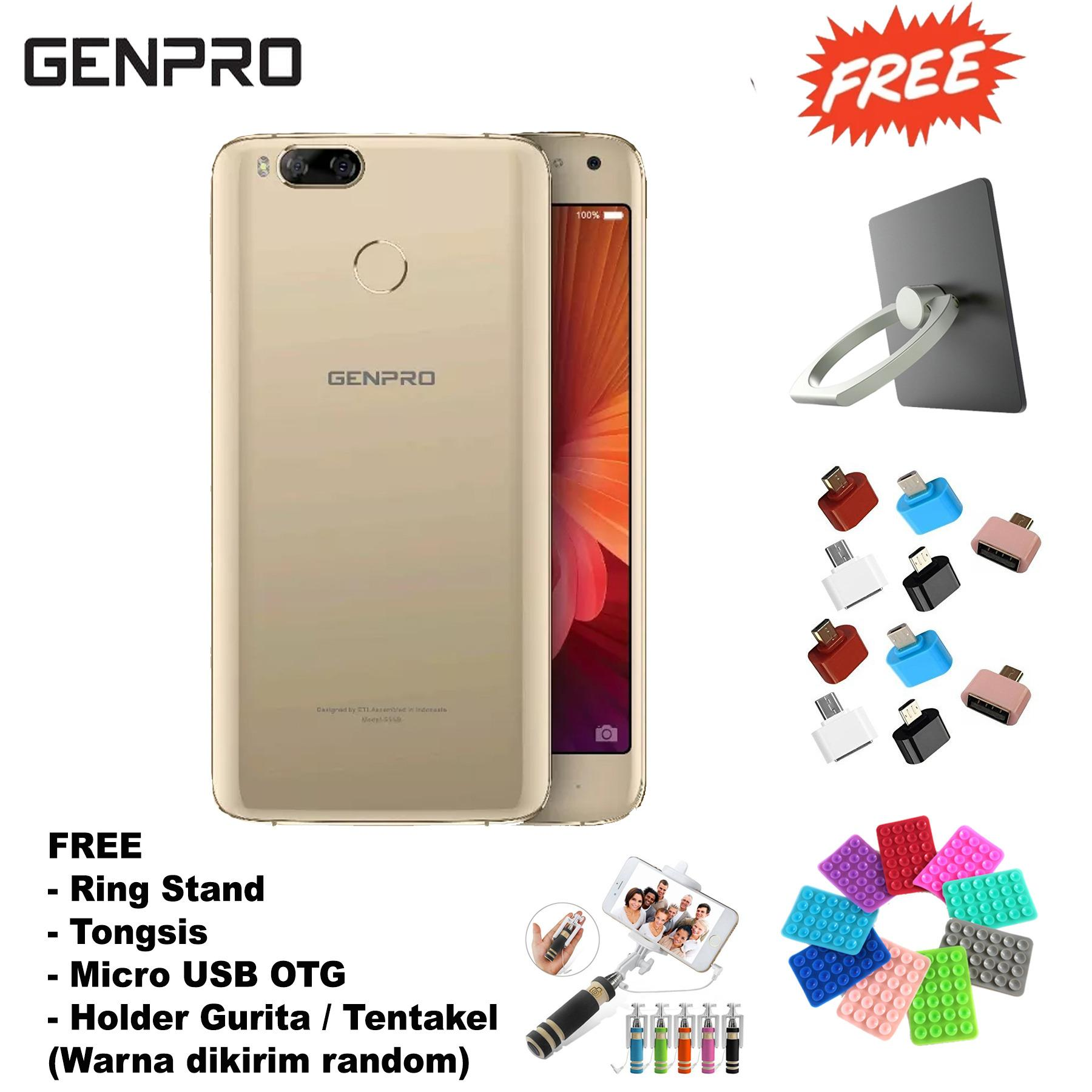 Genpro Bokeh - 2/16GB - Dual Camera - 5.5 in - Perfect Bokeh Camera - (Free 4 Item Acc )