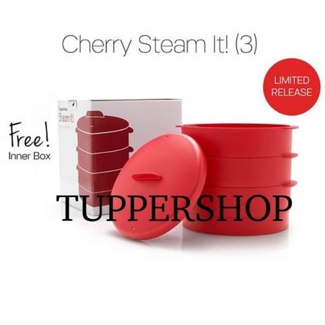 TUPPERWARE Cherry Steam it susun 3 susun 2 tingkat dan innerbox steamit stimit stim it stem it Variasi susun 2 pake bubble