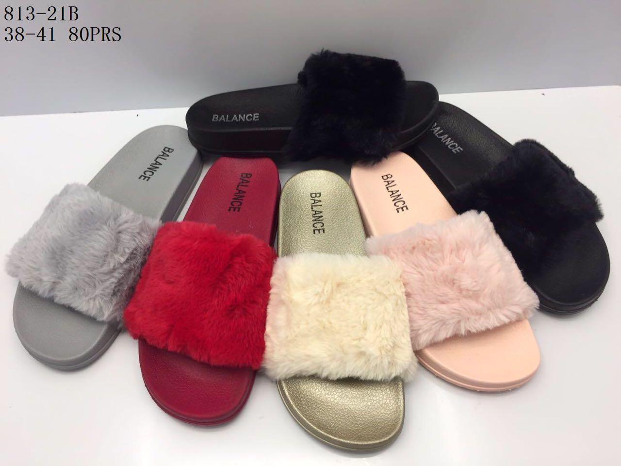 Sandal Flip Flop Wanita - Sandal Selop Bulu Termurah Warna Dikirim Acak FAD28