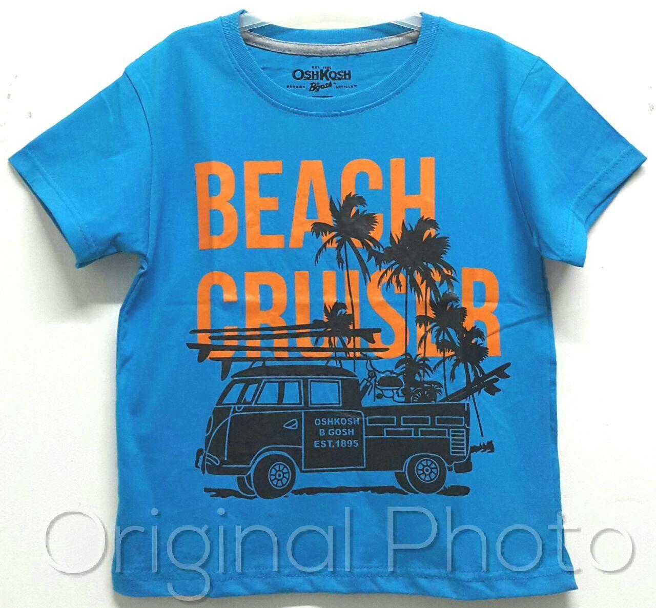 Baju kaos anak laki laki Beach Biru Size 1 - 6 tahun