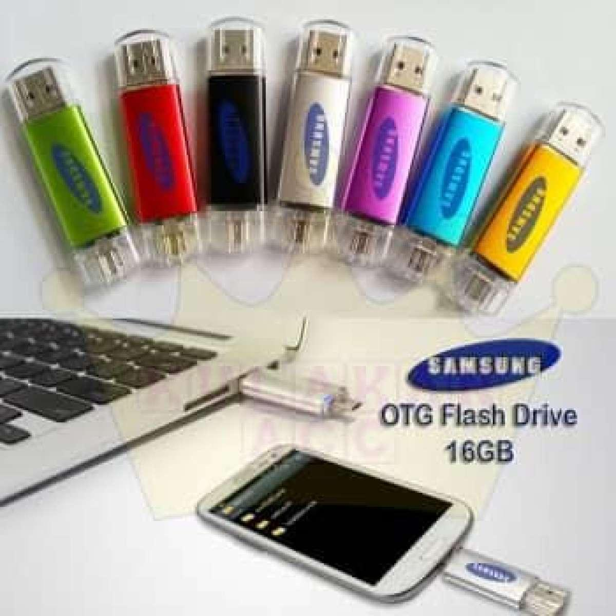 Jual Flashdisk Terbaru Flasdisk Hp 8gb V250w Otg Samsung 16 Gb Random Warna Sas