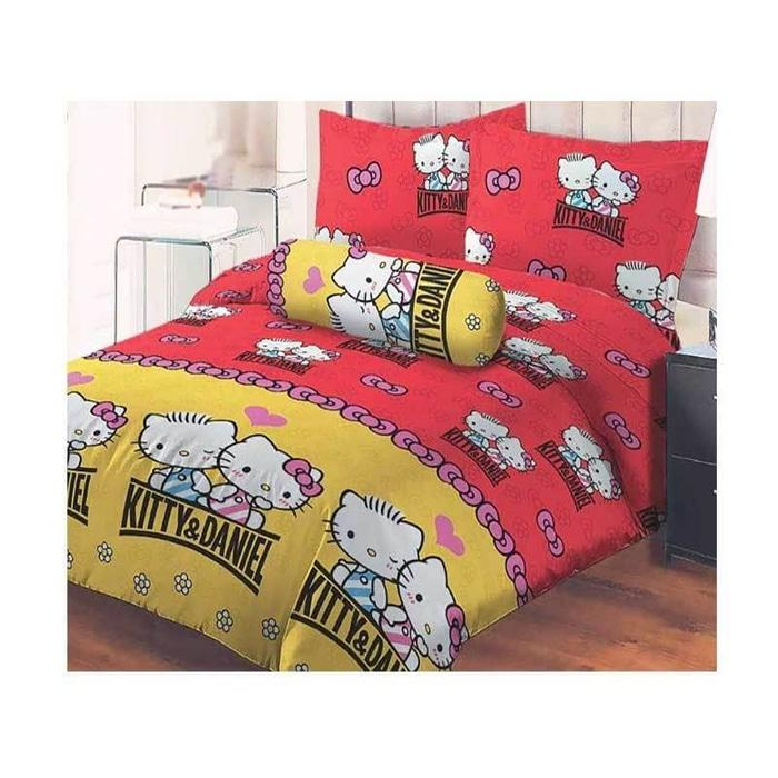 Sprei Lady Rose Hello Kitty Daniel Red No.1 King 180 Seprai Sprai Bed By Afrian Store.