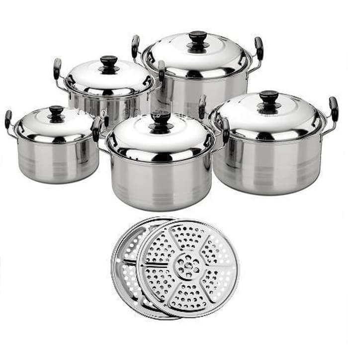 America High Pots Panci Set + Steamer ( kingko )