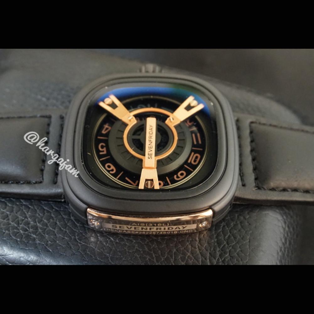 Jam Pria Sevenfriday AIS [316L] Leather - Black (Hargajam Harga Jam)
