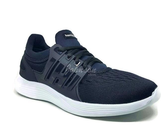 Johnson Shoes   Sepatu Kasual Pria HOMYPED - NIKOLA Hitam dan Abu 100%  ORIGINAL e82e1f5763