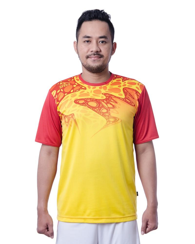 Specs Apparel Jersey Badminton Baldr Bd Jersey - Vibrant Yellow Signal Orange By Elanno Sport N Casual.
