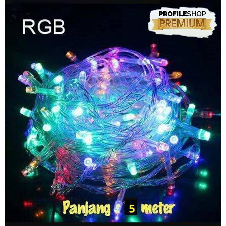 Lampu LED Tumblr Profileshop -  Lampu Warna Warni Panjang 5 Meter