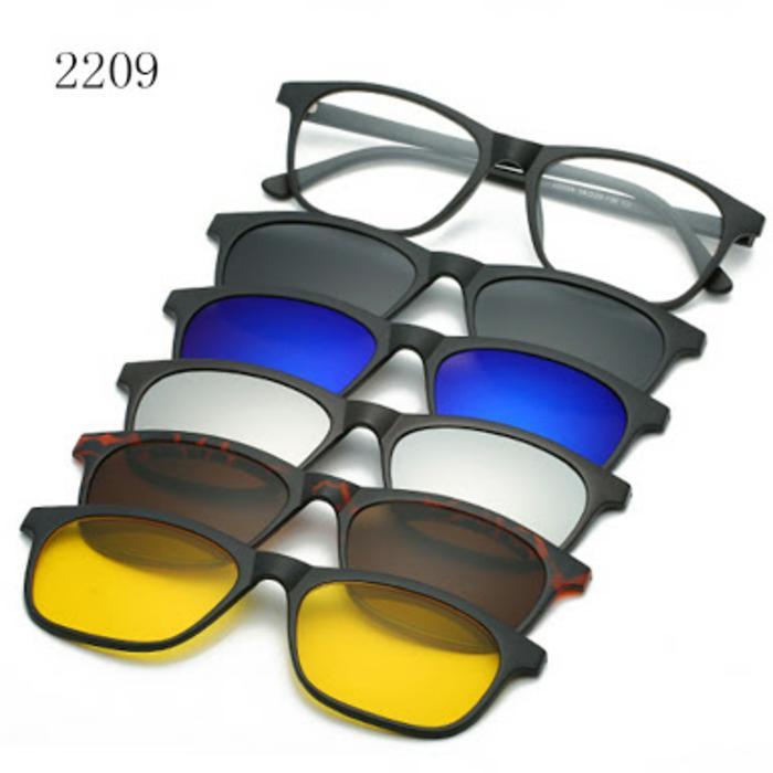 Hemat 10%!! Frame Kacamata Sungglas Clip On 2209 Free 5 Lensa Grosir Kacamata - ready stock