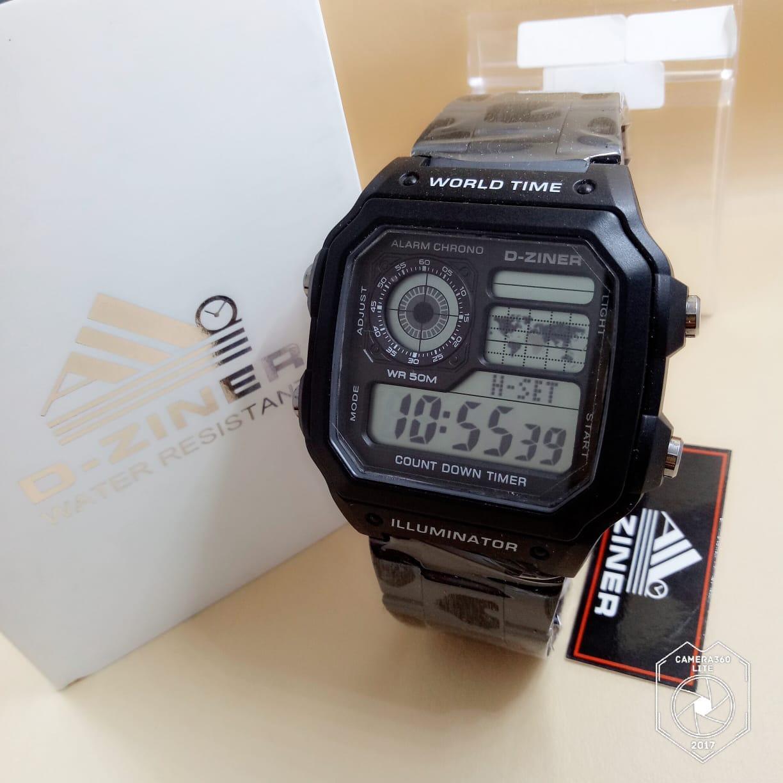D Ziner Dz 7075 Dual Time Jam Tangan Wanita Rubber Strap Daftar Source · D ZINER OEIGINAL Jam Tangan Sport Pria Rubber Strap 9007