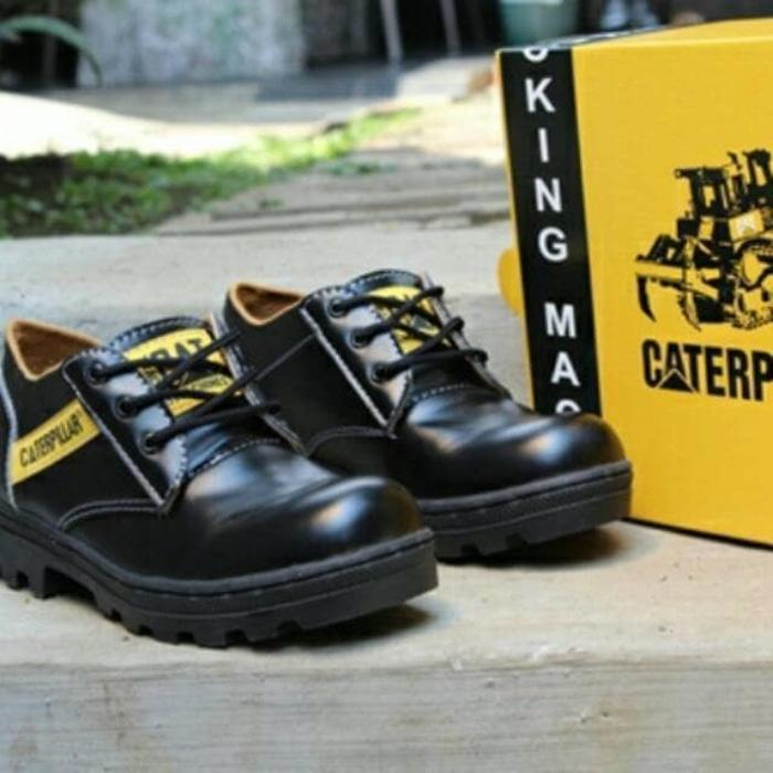 Sepatu caterpillar Licin KW Super pendek