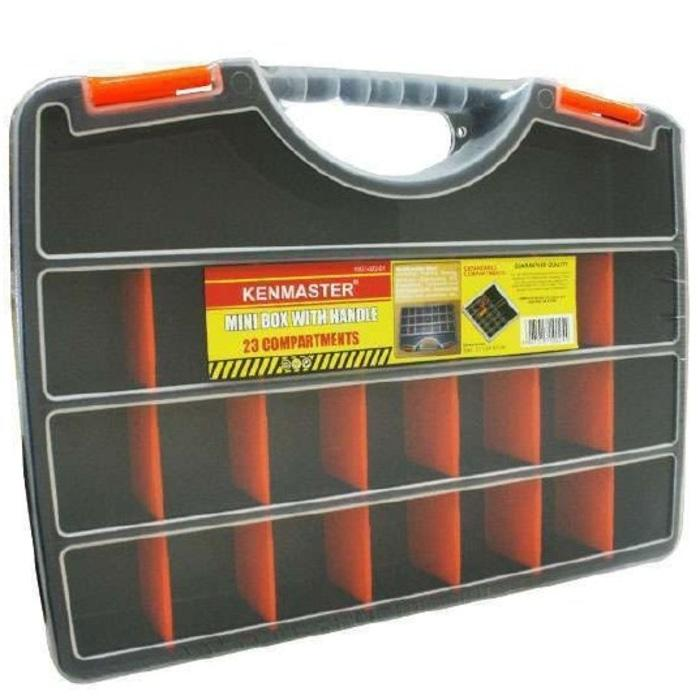 [DISKON] kotak perkakas tenteng Toolbox Mini tool box handle Kenmaster 23 slot //